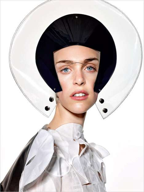 Conceptual Accessory Editorials - Hedvig Palm Fronts Vogue Italia's Avant Garde Portrait Series