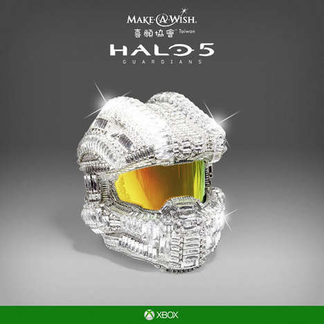 Diamond-Encrusted Ski Helmets - This Halo Master Chief Helmet Has 25,000 Swarovski Crystals