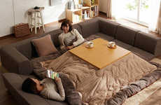 Heated Table Blankets - This Japanese Pillow is a Heated Blanket and Table All in One