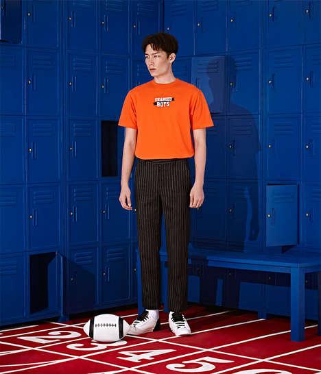 Sporty Locker Room Lookbooks - BOYPLAIN's Latest Catalog Highlights Vibrant and Comfy Staples