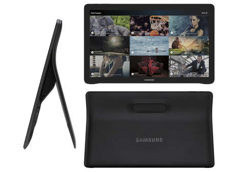 Large-Scale Viewing Tablets - The 'Samsung Galaxy View' is Akin to a Portable Television