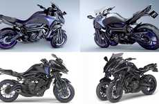 Tilting Concept Motorbikes - Yamaha's MWT-9 Features a Lean Design and Three-Wheeled Form Factor
