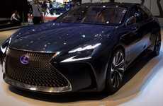 Flagship Concept Sedans - The Lexus LF-FC Concept Features Futuristic Design and Technology