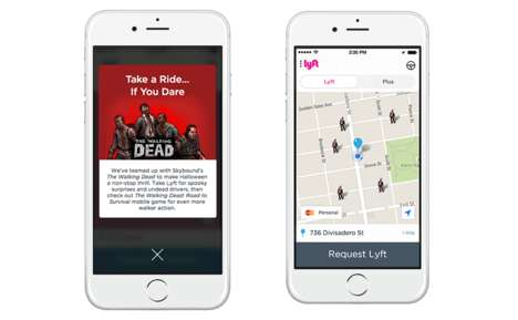On-Demand Zombie Experiences - This Halloween, Lyft Will Dispatch Zombies to Un-Liven Up Parties