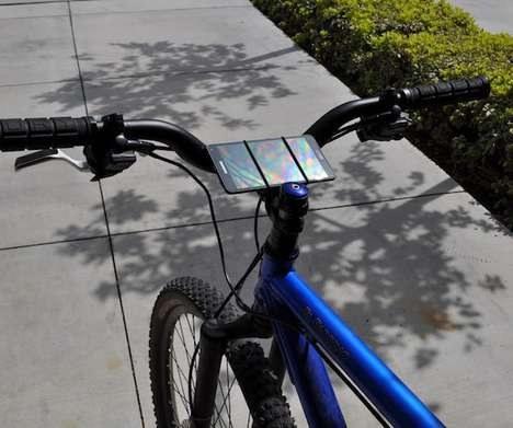 Smartphone Bicycle Straps - The VeloStrap Smartphone Bike Mount Keeps Your Phone Securely in Place