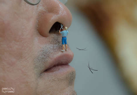 Quirky Figurine Photoseries - These Photos Imagine Tiny People Interacting with Everyday Objects