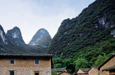 Mountainside Eco Resorts - The 'Yun House' is an Eco Resort Along the Li River in China