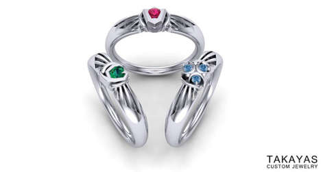 Gamer Spirit Rings - These Rings from Takayas are Based on Stones from 'The Legend of Zelda'