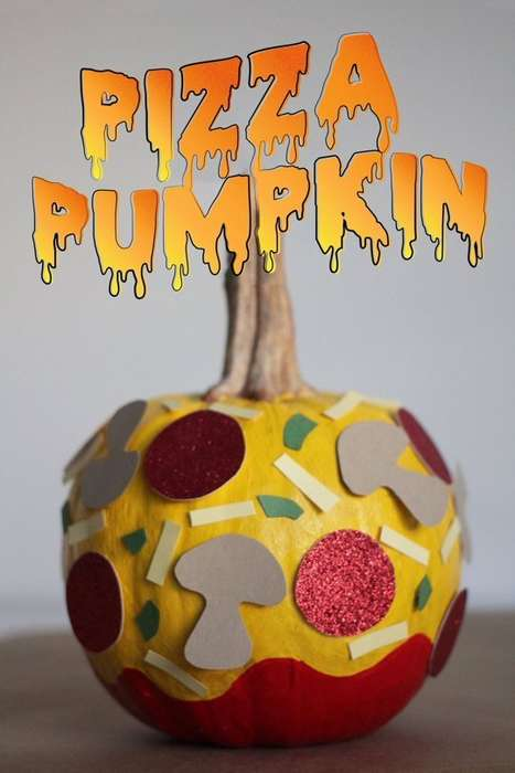 Pizza Pumpkin Decorations - This Alternative to Pumpkin Carving Suggests Adhesive Food Stickers