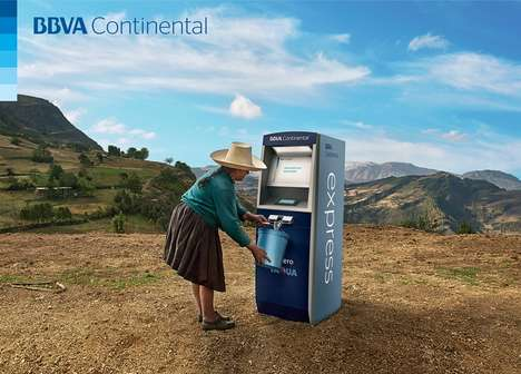 ATM Water Dispensers - The Bank BBVA Continental Unveiled an ATM Water Dispenser