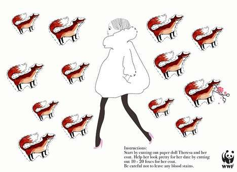 Murderous Fur Coat Ads - These Cut-Out Animal Ads Mimic the Murderous Acts of Making Fur Coats
