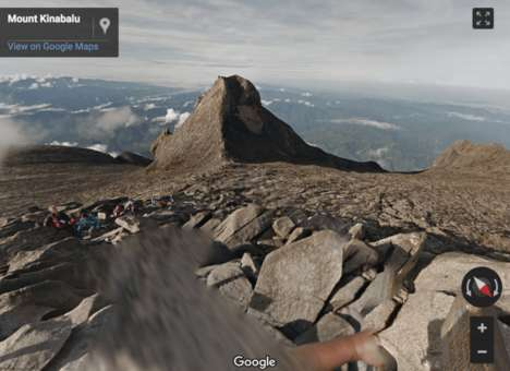 Virtual Mountain-Climbing Experiences - These New Google Street View Images Span Mount Kinabalu