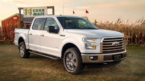 Truck Tribute Corn Mazes - In This Ford Commercial a Farmer Creates a Corn Illustration of the F-150