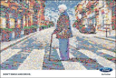"Blurry Distracted Driving Ads - These Ford Ads Demonstrate Why Motorists Shouldn't ""Emoji and Drive"""