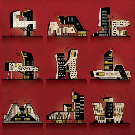 Naughty Architectural Illustrations - This Artist Drew Buildings in the Positions of the Kama Sutra