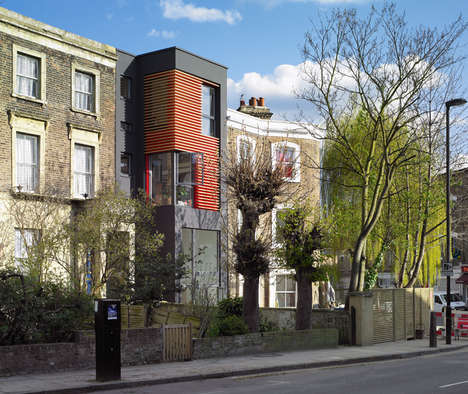 Narrow Infill Homes - This Slim London Home Was Built into the Space Between Two Existing Residences