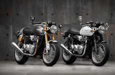 Reimagined Racer Motorbikes - The Thruxton Motorbikes Celebrate the Historic Thruxton Race Series