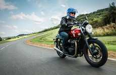 Liquid-Cooled Motorbikes - The Street Twin Motorbike's Engine Features Liquid Cooling Technology