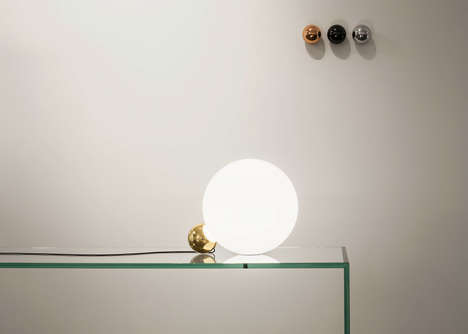 Spherical Globe Lamps - The 'Copycat' Lamp Pairs Two Orbs Together with Glass and Precious Metals