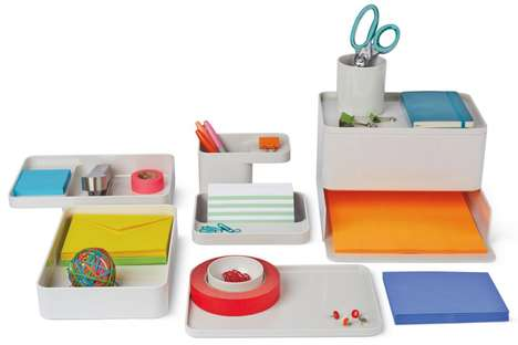 Customizable Desk Organizers - The Formwork Collection Allows for Personalization Depending on Needs