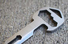 Key-Sized Multitools - The MyKee Titanium Multitool Key Packs a Number of Uses into a Small Design