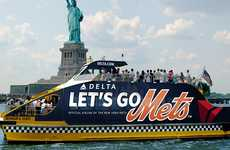 Sporty Water Taxis - Delta is Offering Free Ferry Rides to Shea Stadium in New York