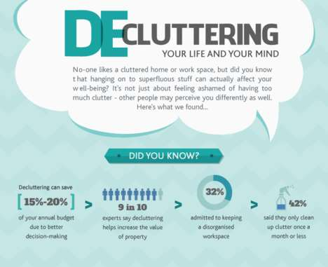 Life-Organizing Infographics - This Organization Guide Shares the Value of Clearing Your Clutter