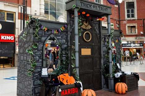 Promotional Trick-or-Treat Doors - Knocking on Haribo's Halloween Door Reveals a Selection of Treats
