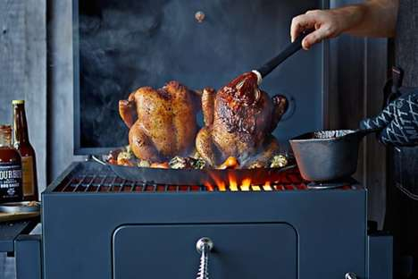 Rustic Cast-Iron BBQs - The Landmann Vista Charcoal Grill is Designed for Serious Barbecuers
