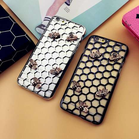 Honeybee Smartphone Shields - The Honeycomb iPhone Case Protects Your Device in Style