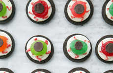 Gruesome Cookie Eyeballs - These Edible Eyes are Made Using Candy, Icing and Oreo Cookies