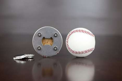 Ball Bottle Poppers - This Baseball Bottle Opener Makes Cracking Brews During the Game Easy