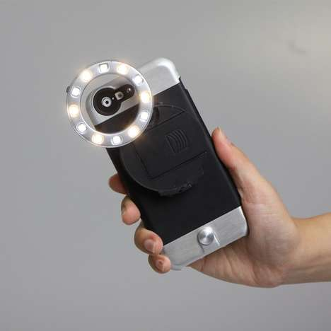 Powerful Smartphone Flashes - The Ztylus LED RV-L1 Ring Light iPhone Case is Ideal for Photographers