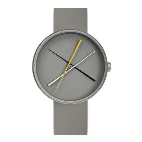 Monochromatic Minimalst Watches - The Crossover GRAY Timepiece Model Uses Color to Tell Time