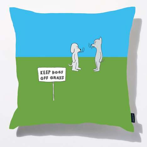 Cartoon Comic Cushions - This Colorful Pillows Feature Witty Drawings by Dan Golden