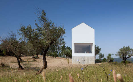 Elongated Modern Farmhouses - 'Fonte Boa' Overlooks a Vineyard and Olive Grove in Portugal