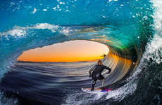 Barrel Wave Surf Photography
