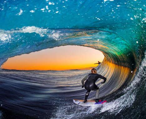 Barrel Wave Surf Photography