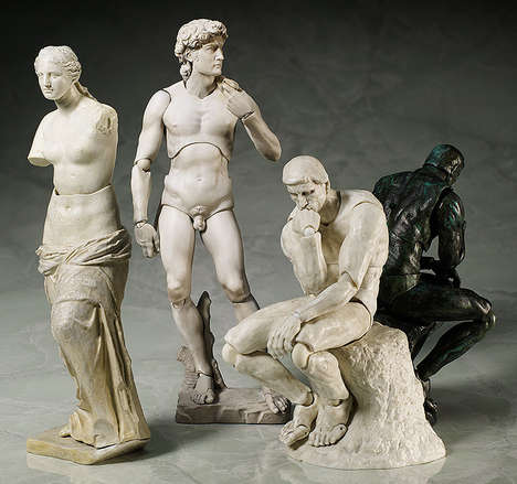 Art History Action Figures - These Flexible Sculpture Figures are Modeled After Famous Works of Art