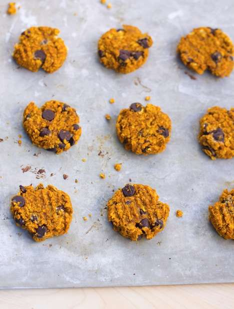 Chocolate Chip Pumpkin Biscuits - This Recipe Offers a Festive Take on Traditional Oatmeal Cookies