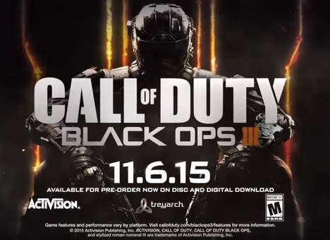 Aspirational Video Game Ads - This Call of Duty Black Ops 3 Ad Combines Action with Celebrities