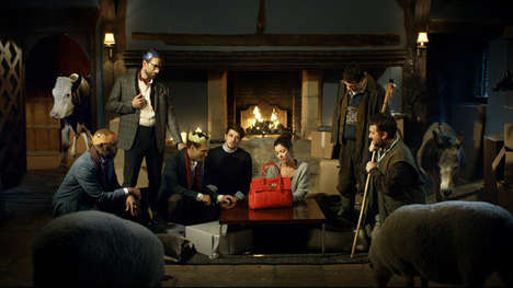 Nativity-Inspired Accessory Ads - The Humorous Mulberry Miracle Ad Replaces Baby Jesus with a Purse