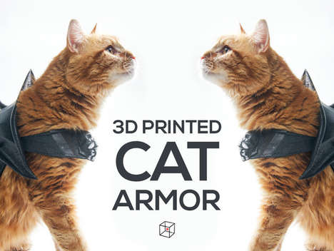 Spiky Cat Armor - These 3D-Printed Suits of Armor for Animals Will Scare Off Any Strays