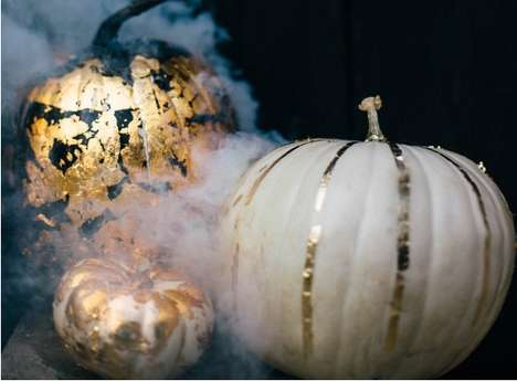 DIY Gilded Pumpkins - These Decorative Pumpkins Bring Some Glitz and Glamor to Your Home This Season