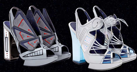 Couture Sci-Fi Shoes - Nicholas Kirkwood's 10th Anniversary Lineup Offers Star Wars High Heels