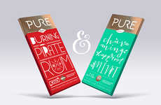 Coupled Candy Bars - The 'Chocolate for Couples' by PURE is the Perfect Way to Share a Treat
