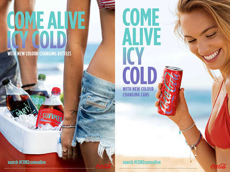 Color-Changing Pop Cans - These Coca-Cola Cans Change as They Warm in the 'Coke Come Alive' Campaign