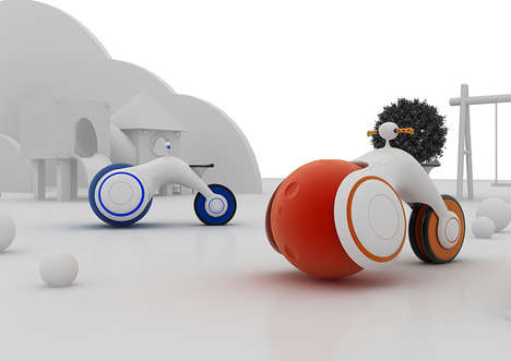Bubble-Shaped Baby Bikes - The 'B.Bike' Rids the Need for Training Wheels with a Huge Ball-Like Tire