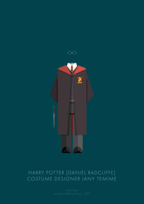 Iconic Movie Costume Charts - Frederico Birchal Illustrated Movie Character Costumes Worn in Films