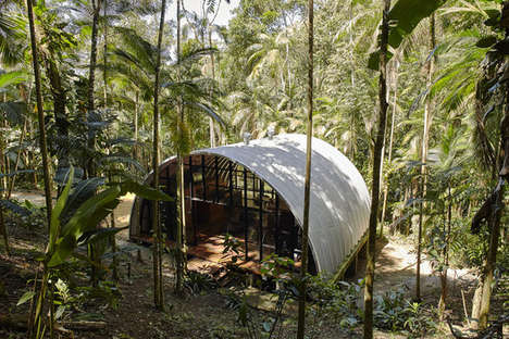 Curved Sustainable Housing - This Home in Brazil Was Made with a Self-Supporting Curved Roof Shell